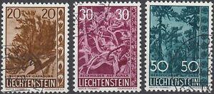 Liechtenstein Bäume 1960 Mi.Nr. 399-401 gestempelt Mi.Wert 42 € (6332)