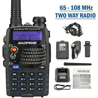Digital Handheld Radio Scanner Fire Police VHF FM EMS Ham 2 Way Transceiver Dual