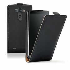 Ultra Slim BLACK Leather Mobile Phone Accessories for LG G3 - Case Cover Pouch