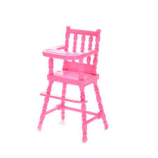 1X High Chair Doll's House Furniture Play Doll House Toy for Baby Girls WelMACP