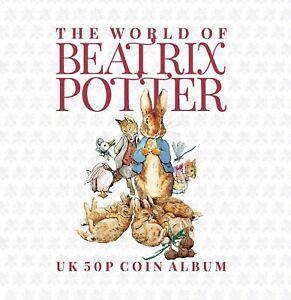 2020 Beatrix Potter Peter Rabbit 50p Fifty Pence 15 Coin Album Gift  SA