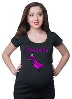 Pregzilla Funny Maternity T-shirt Pregnancy Tee Shirt Future Mom Tee