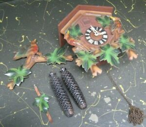 large Henry Coehler Heco 8 day cuckoo clock as found