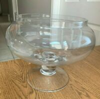 """Large Snifter Wine Glass  Shaped Goblet Vase Glass Bowl  Beautiful!8""""tal x 7.5"""""""