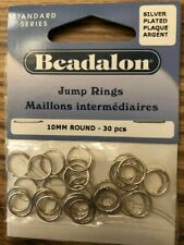 Beadalon Jump Rings 18mm round 30 pieces Silver Plated