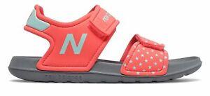 New Balance Kid's Sport Sandal Big Kids Female Shoes Pink with Blue