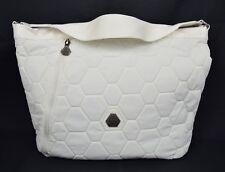 Rudolf Dassler Puma Quilted Hobo White Honey Comb Bag Handbag New