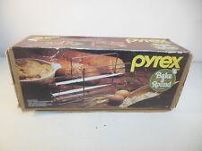 Retro Pyrex Bake A Round Glass Cooking Bread Tube & Rack Corning w/ Box #990
