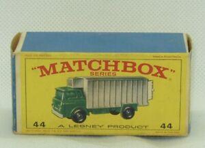 Matchbox Lesney #44 Refrigerator Truck Original Box Only
