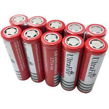 10X 18650 6800mAh 3.7V Li-ion Batería Recargable Battery para Linterna Faro New