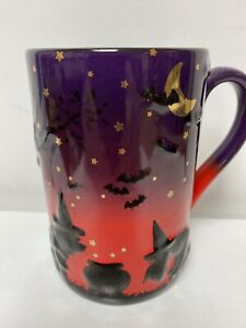 DISNEY EXCLUSIVE EXTREMELY RARE WINNIE THE POOH 3D SILHOUETTE HALLOWEEN MUG