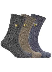 Lyle & Scott Pack of 3 Men's McGill Marl Socks RRP: £26 Size (UK) 7-11