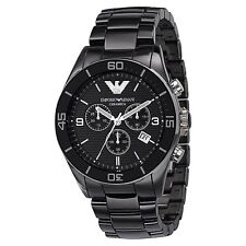 BRAND NEW EMPORIO ARMANI BLACK CERAMICA MEN WATCH AR1421