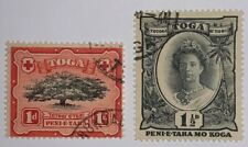 Travelstamps: 1897 TONGA TOGA Stamps 1d & 1½d (2)Stamps, Used, Ng,