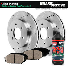Front Drill Slot Brake Rotors & Ceramic Pads For Ford F150 Expedition Navigator
