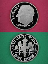 Silver 2012 S Deep Cameo Proof Roosevelt Dime Mirror Finish Combined Shipping