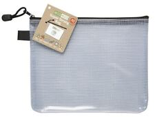 12 x eco-eco A5 95% Recycled Super Strong Bag Clear Mesh Tuff Case + Zip