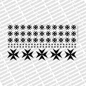 Ginfritter's WARCRO027 Prime Scale Iron Cross #3 Decal Black + Warhammer