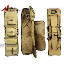 """100CM/38"""" Airsoft CS Tactical Heavy Duty AEG Rifle Shotgun Carrying Case Bag Tan"""