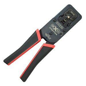 ezRJ45 EXO Platinum Tools Crimp Tool with EX Die for large Cat6 and Cat6 100061C
