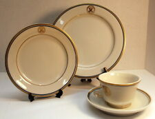 """Vintage Department of the Navy 4 piece China Place Setting:  9"""" Dinner Plate +"""