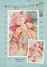 MAGNOLIA FAIRY - Rag Doll Sewing Craft PATTERN - Cloth Doll Shabby Chic Fairies