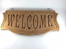 Wooden WELCOME Sign Plaque Wall Hanging House