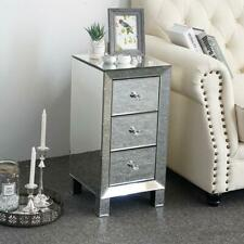 Modern Mirrored Nightstand End Table Bedside Mirrored End Table