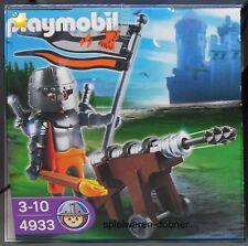 Playmobil Ei 4933 Raubritter mit Kanaone Munition Helm Schwert Fakel NEU