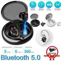 True Wireless Bluetooth 5.0 Earbuds Mini Twins Noise Reduction Headset Earphone