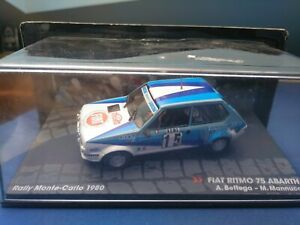 COCHE 1/43, ALTAYA, MODELO FIAT RITMO 75 ABARTH RALLY MONTE CARLO 1980.