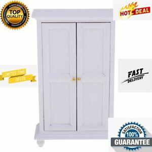 Miniature Cabinet Bathroom White Single Double Door Wooden New Storage Cupboard