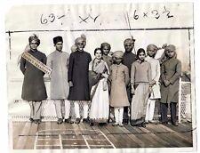 1933 Press Photo Hindu Dancers Musicians Brahamins Bombay India SS Vulcania Ship