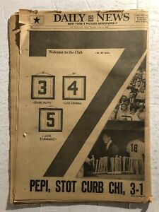 1969 New York DAILY NEWS A Day To Remember #7 Retired MICKEY MANTLE Day Stadium
