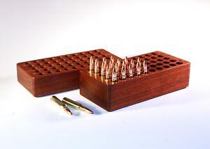 50 Rd Walnut Wood Ammo Box 264, 300, 338, 458 7mm Remington Mag Winchester rem