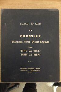 crossley scavenge pump diesel engines diagram of parts book vintage antique