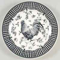 Queens ROOSTER BLACK Dinner Plate 8607969