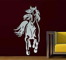 Running Horse Silhouette Animal Vinyl Wall Sticker Bedroom Decor