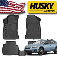 Husky Liners 2018 Subaru Crosstrek Front and Rear Floor Mat Set WeatherBeater