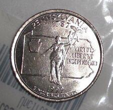 1999-P US Quarter, 25 cents; Pennsylvania, Commonwealth Statue, coin. UNC-60