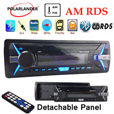 1 Din Car Radio RDS+AM FM Stereo Detachable Panel MP3 Player Bluetooth In-Dash