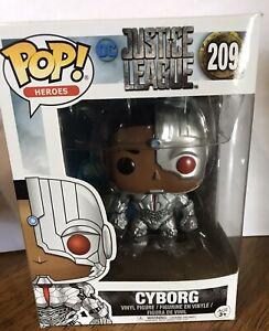 DC Justice League Cyborg 209 POP HEROES FUNKO. VINYL FIGURE BRAND NEW
