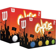 NEW Wilson CHAOS Golf Balls (24 Pack's) - You Pick Color & Quantity!