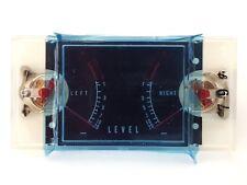 Twin Analogue Level Meter M-15B - VU Meter - Approx 81mm x 41mm - NOS