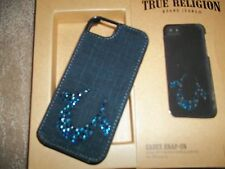 TRUE RELIGION Crystal & DENIM CASEY Snap On Phone Case Iphone 5 / 5S  Cover NEW