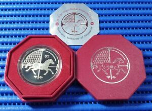 2014 Singapore Lunar Year of the Horse $2 Cupro-Nickel Proof-Like Coin