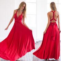Fashion Women Swing Maxi Long Bandage Multiway Bridesmaid Convertible Wrap Dress