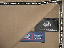 60% SUMMER KID MOHAIR & 40% WOOL WORSTED SUITING FABRIC MADE IN ENGLAND- 3.4 m.