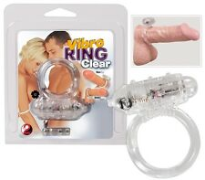 Anello fallico vibrante Vibro Ring Transparent Sexy shop cock x ring vibrazione
