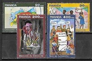 Rwanda #1392B-1394 Used 1999 Genocide Remembrance Set $35.50 SCV